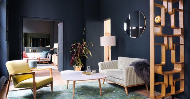 Apartemen bergaya lawas dari retro art deco