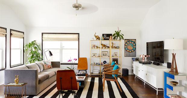 Apartemen klasik dengan desain retro fifties