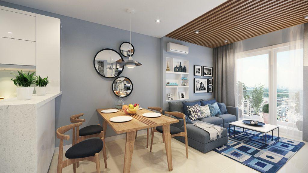 Apartemen Bergaya retro yang modern dan minimalis