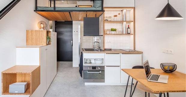 interior-apartemen tipe studio 21m