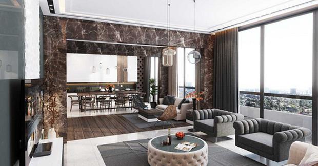 dekorasi interior ruang tamu apartemen