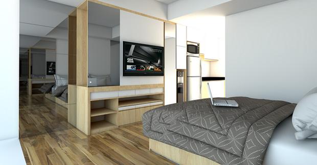 model desain kamar apartemen